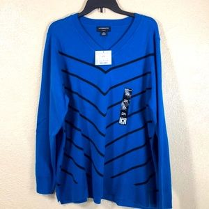 Liz Claiborne Sweater Blue Black NWT Size 2X
